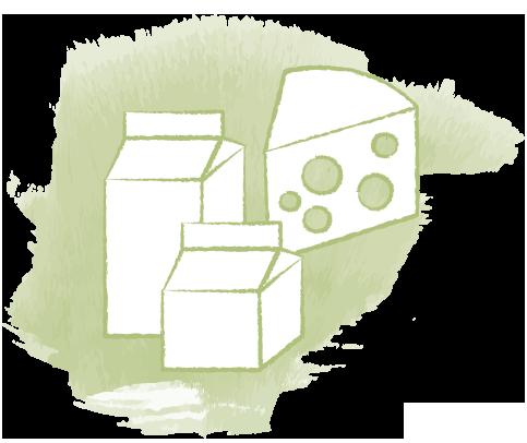 Icon zeigt Milchprodukte