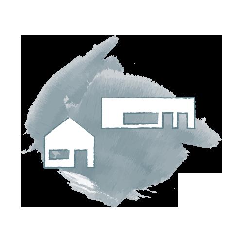 Ein Icon zeigt ein Geschäft und ein Wohnhaus